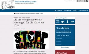 FriedensForum: Kampagne Stopp Air Base Ramstein