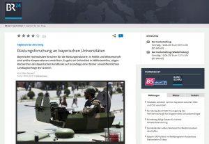 BR: Rüstungsforschung an bayerischen Universitäten