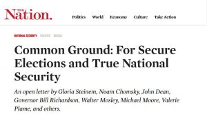 Common Ground: For Secure Elections and True National Security – Gemeinsam für sichere Wahlen und wirkliche Sicherheit
