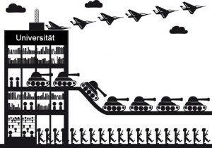 Solidaritätsbekundung mit dem Protest Tübinger Studierenden gegen die Militarisierung der Forschung