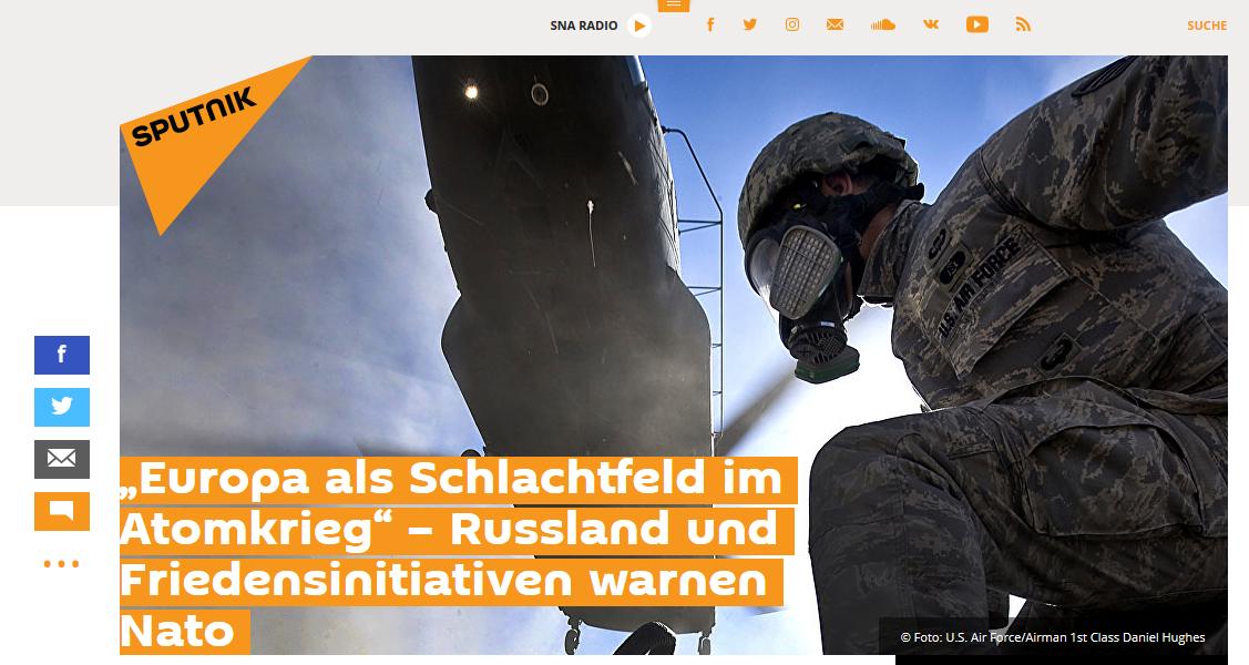 """Sputnik: """"Europa als Schlachtfeld im Atomkrieg"""""""