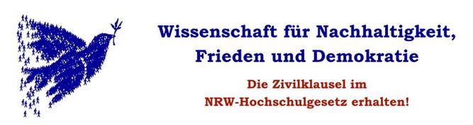 Wissenschaft für Nachhaltigkeit, Frieden und Demokratie – Die Zivilklausel in NRW erhalten!
